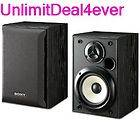Sony SS B1000 5 1/8 Inch Bookshelf Speakers (Pair)