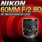 Micro Nikkor Micro Nikkor 60mm f 2.8 AF 60 60mm F 2.8 D AF Lens