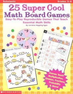 25 Super Cool Math Board Games Easy to Play Reproducible Games That