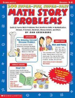 200 Super   Fun, Super   Fast Math Story Problems Quick and Funny Math