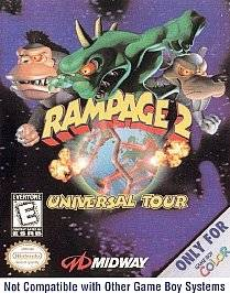 Rampage 2 Universal Tour Nintendo Game Boy Color, 1999