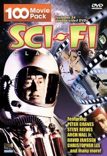 Sci fi Classics 100 Movie Pack DVD, 2007, 24 Disc Set
