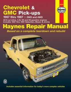 Chevrolet and GMC Pick Ups, 1967 Thru 1987 No. 420 by Peter G