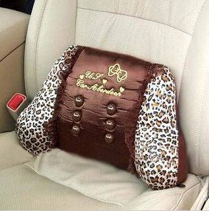 Hello Kitty Leopard Car Accessory Seat Rest waist Cushion Pillow Pad