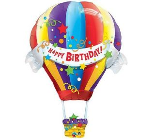 Hot Air Balloon Shape 42 Mylar Foil Happy Birthday Party