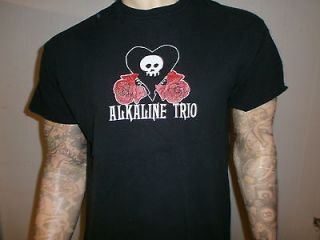 ALKALINE TRIO T SHIRT Punk Rock Concert Tour Skull Roses Heart FREE