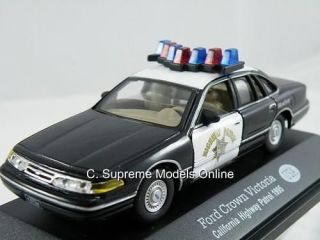 FORD CROWN VICTORIA POLICE CAR CALIFORNIA HIGHWAY PATROL 1995 1/43RD