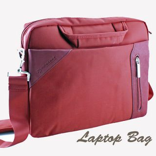 Red Laptop Carrying Case Shoulder Messenger Sleeve Bag Briefcase for