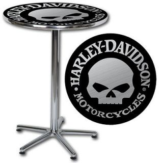 HARLEY DAVIDSON ®SKULL CAFE TABLE (2) chairs