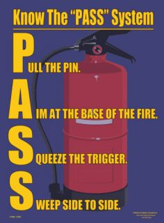 PASS Safety Poster   Fire Extinguisher Safety Poster