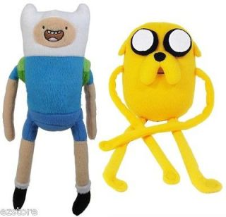 Cartoon Network Adventure Time JAKE and FINN Plush Doll Toy Figure 2