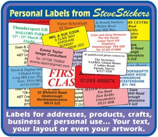 Personal Printed Address Labels Craft Business Stickers