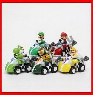 Nintendo DS NDS Gashapon Mario Kart Bowser figure x 5A