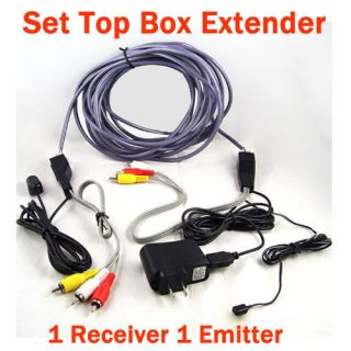 Audio Extender IR Infrared Repeater Sender Network Cable Set Top Box
