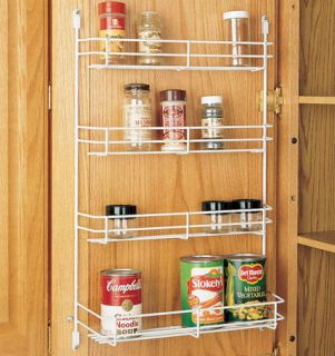 Door mount Spice Rack, Kitchen Cabinet organizer 4 tier