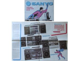 Newly listed SANYO PORTABLE AUDIO   BOOMBOXES  BROCHURE (1984 85)