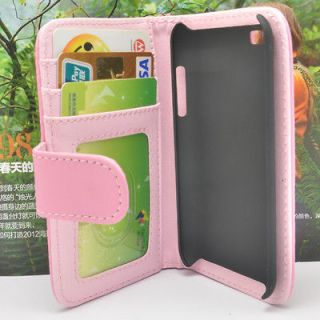 Screen Protector+Wallet Flip Leather Case Cover For ipod touch 4 4th