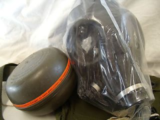Isreali Gas Mask with new 40mm Nato NBC Canister & Hood & New Carrying
