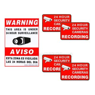 Surveillance Security Camera Stickers Warning Decal Signs Home