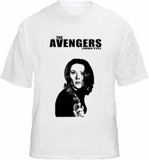 The Avengers T shirt Emma Peel   Diana Rigg TV Tee
