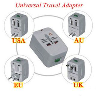 Universal Portable Travel Power Charger Adapter Plug Converter AU UK