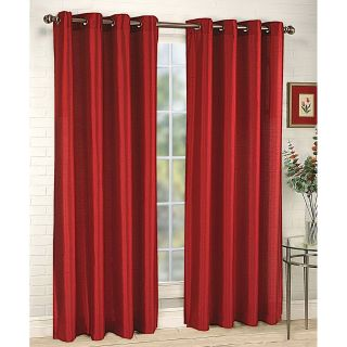 sheer curtains red in Curtains, Drapes & Valances