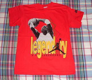 MICHAEL JORDAN / NIKE AIR* vtg red chicago bulls shirt (S)80s Unworn
