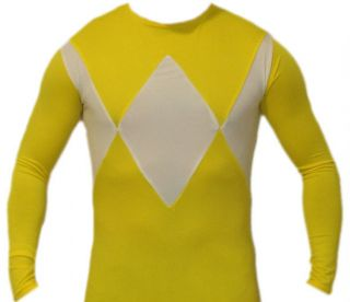 Mighty Morphin Power Rangers Yellow Power Ranger Costume Suit v2   ALL