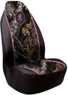 Signature Automotive Browning Seat Cover   Mossy Oak   Pink