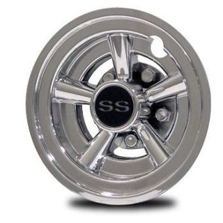 SS Golf Cart Wheel Covers 8 Set Of 4 hubcaps