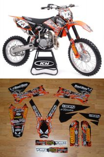 Graphics KTM EXC 2005 2007 DIRT BIKE GRAPHICS KIT ENJOY MFG