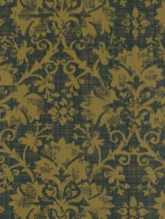 FLORAL SCROLL DAMASK TOILE Gray Victorian Wallpaper DOUBLE ROLLS