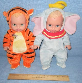 Disney Water Babies dolls~Tigger and Dumbo~Lauer doll~full size