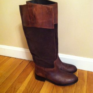 Steve Madden Ritte Riding Boot 7M Brown Distressed Leather