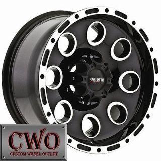 15 Black Bullet Wheels Rim 6x139.7 6 Lug Sierra Silverado Titan Tundra