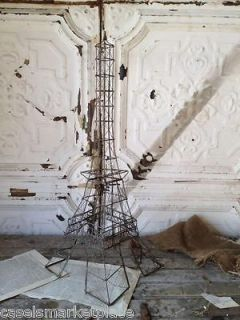 ACCENT ON PARIS Eiffel Tower Rusty Metal / Wire Statue French Home
