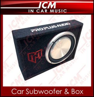 12 Slim Active Subwoofer Box 800w ideal for Car Van Truck Active Bass