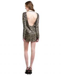 ABS Chrome Sequin Low Back Mini Dress Size 2 NEW With Tags!!!