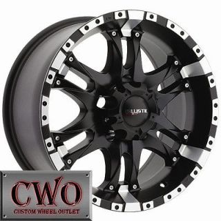 20 Black Ballistic Wizard Wheels Rim 5x120 5 Lug BMW 5 6 7 8 Series S
