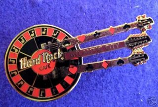 ATLANTIC CITY ROULETTE WHEEL TRIPLE NECK GUITAR Hard Rock Cafe PINS