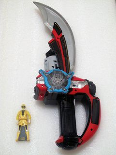 Bandai Japan Gokaiger Saber Sword + Yellow DX Key LOOSE No Prop Power