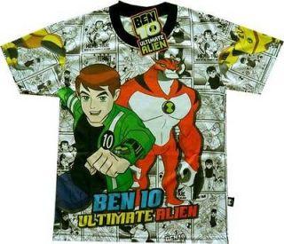 BEN 10 TENNYSON ULTIMATE ALIEN NWT Smart Boys Cartoons T Shirt Sz.12