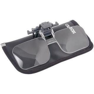 NEW Carson Optical Clip and Flip Eye Glass Magnifier