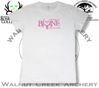 Bone Collector Ladies Logo White Fitted T Shirt 301 903