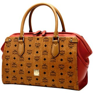 MCM Midium Boston bag MADELEINE  color: COGNAC+ORANGE 2012SSNEW