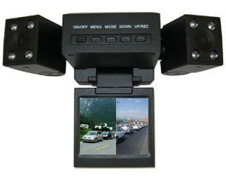 Two Lens Camera LCD Car DVR Car Video Recorder Dashboard Night Vision