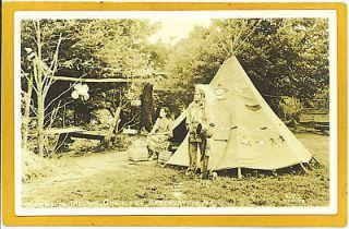 Native Americana Real Photo Postcard   Cherokee Indian