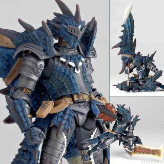Kaiyodo Revoltech 123 EX Capcom Monster Hunter Swordsman Laeus BLUE