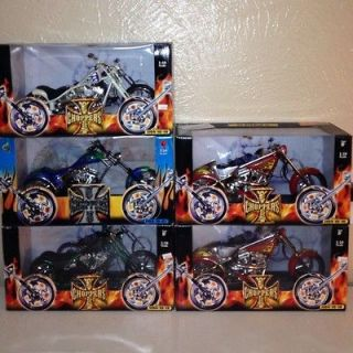 West Coast Chopper ( Jesse James) Muscle Machines Die Cast Motorcycles