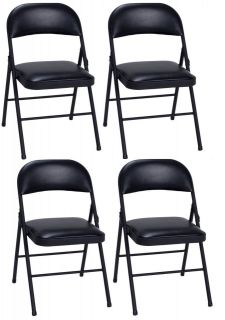 NEW COSCO VINYL COMMERCIAL FOLDING CHAIR 4 PACK